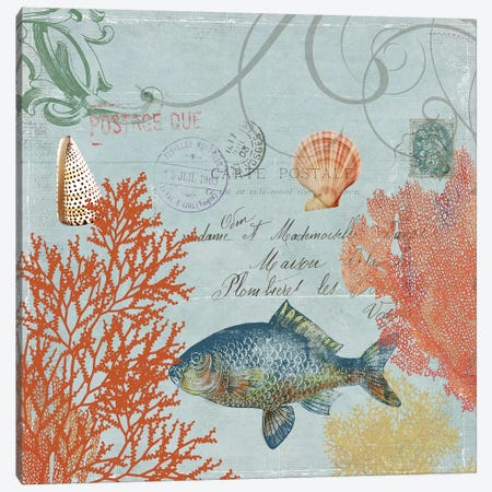 Under The Sea I Canvas Print #AWI297} by Aimee Wilson Canvas Art