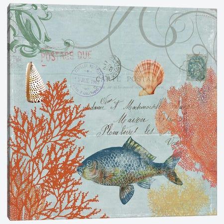 Under The Sea I Canvas Print #AWI297} by Aimee Wilson Canvas Art