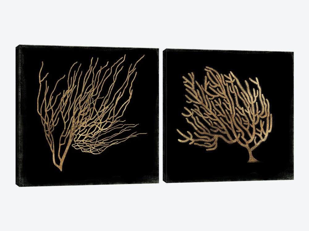 Gold Coral Diptych by Aimee Wilson 2-piece Canvas Print