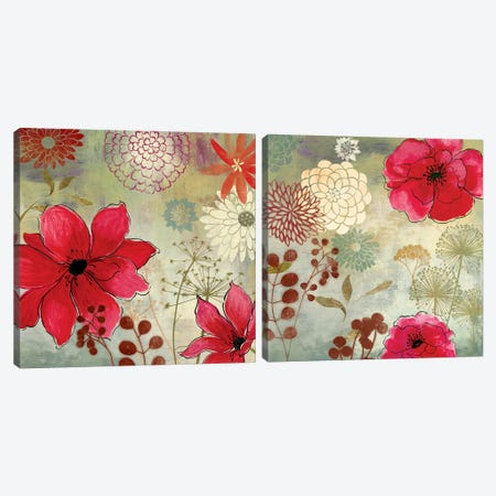 In The Garden Diptych Canvas Print Set #AWI2HSET003} by Aimee Wilson Art Print