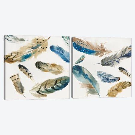La Plume Diptych Canvas Print Set #AWI2HSET004} by Aimee Wilson Canvas Art