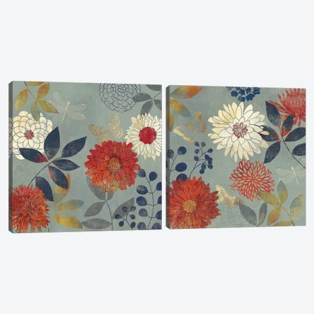 Botanical Garden Diptych Canvas Print Set #AWI2HSET007} by Aimee Wilson Canvas Artwork