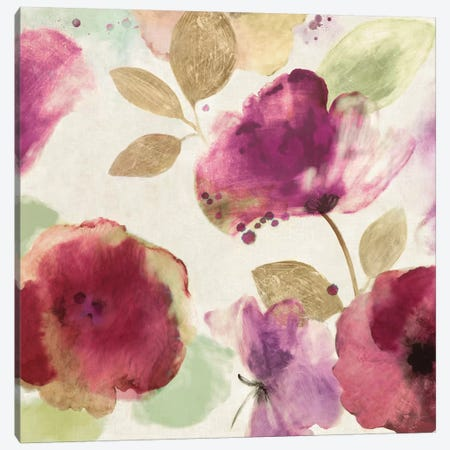 Watercolour Florals I Canvas Print #AWI309} by Aimee Wilson Canvas Print
