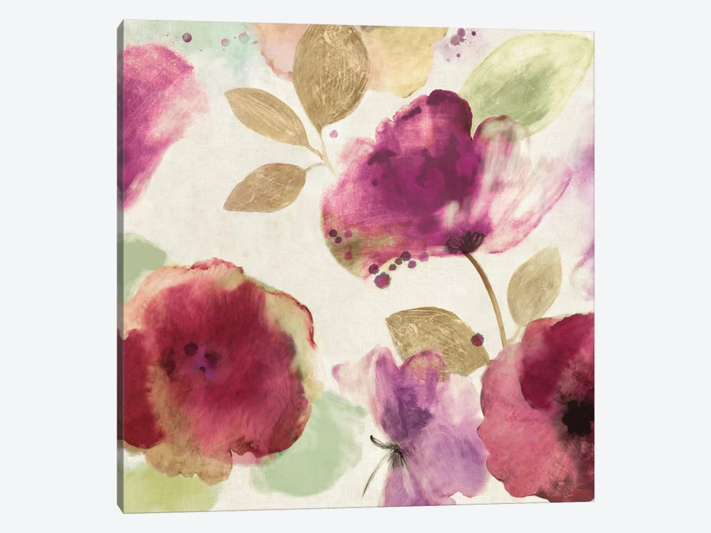 Watercolour Florals I by Aimee Wilson 1-piece Canvas Artwork