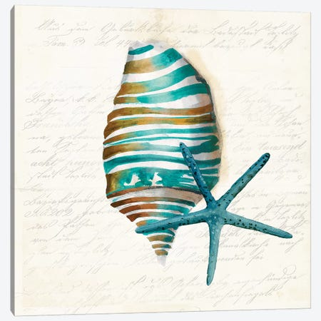 Blue Coral I Canvas Print #AWI30} by Aimee Wilson Canvas Print