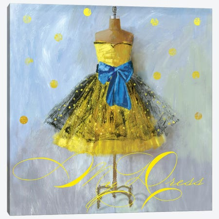 Yellow Dress Canvas Print #AWI316} by Aimee Wilson Canvas Print
