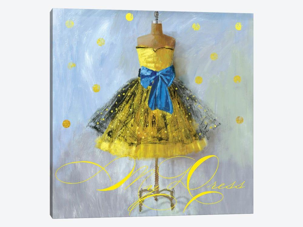 Yellow Dress Canvas Artwork by Aimee Wilson   iCanvas
