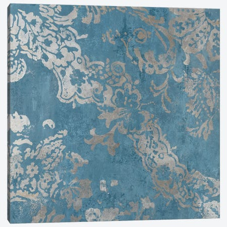Blue Shapes Canvas Print #AWI332} by Aimee Wilson Canvas Art