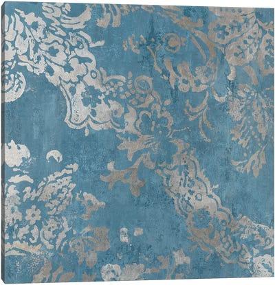 Blue Shapes Canvas Art Print