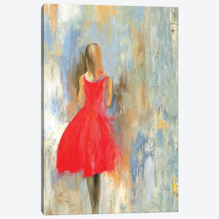 Little Red Dress Canvas Print #AWI339} by Aimee Wilson Canvas Art