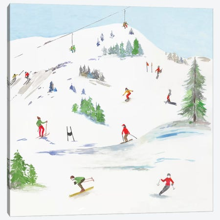 Blue Mountain I  Canvas Print #AWI343} by Aimee Wilson Canvas Print