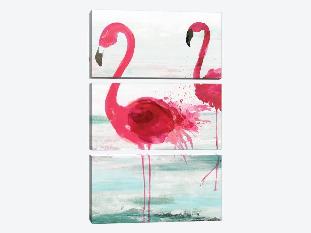 Beach Flamingoes by Aimee Wilson 3-piece Art Print