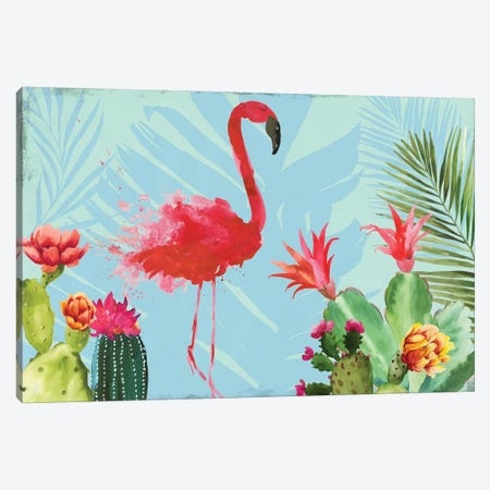 Flamingo in the Mix Canvas Print #AWI355} by Aimee Wilson Canvas Print