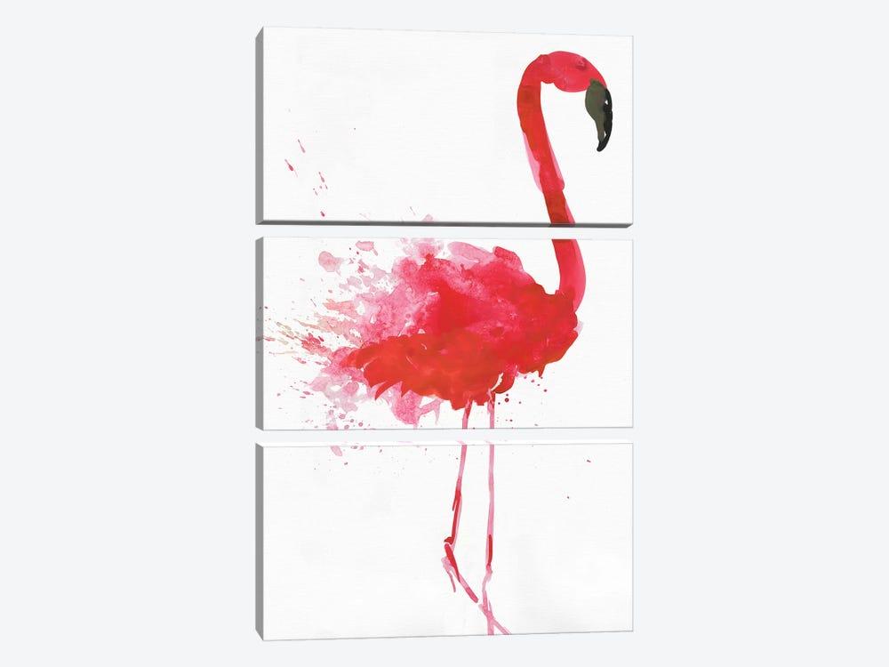 Flamingo Portrait II by Aimee Wilson 3-piece Canvas Print
