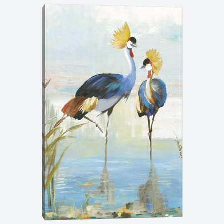 Heron Pairing Canvas Print #AWI358} by Aimee Wilson Canvas Art