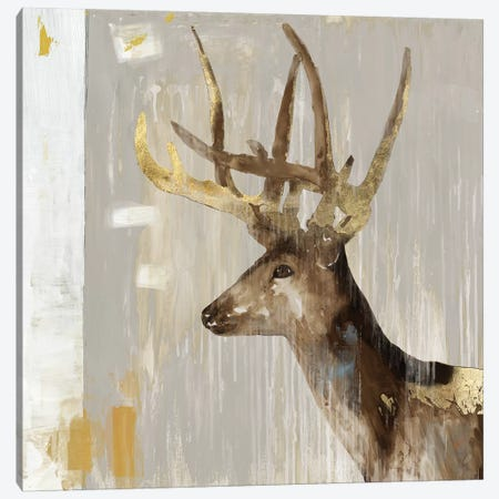 Stag I Canvas Print #AWI369} by Aimee Wilson Art Print