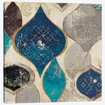 Blue Motif I Canvas Print #AWI36} by Aimee Wilson Canvas Wall Art