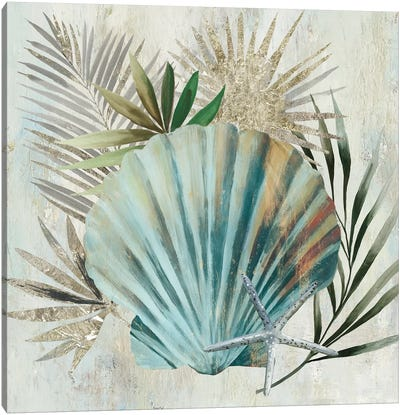 Turquoise Shell I Canvas Art Print