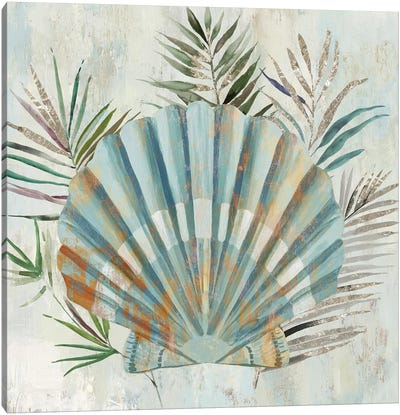 Turquoise Shell II Canvas Art Print