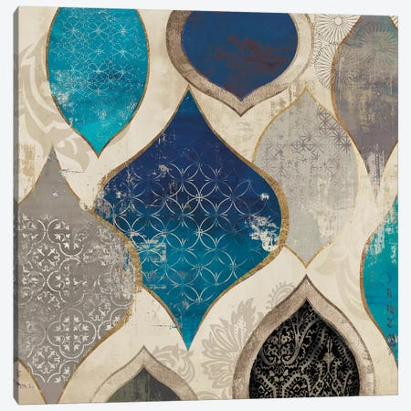 Blue Motif II Canvas Print #AWI37} by Aimee Wilson Canvas Wall Art
