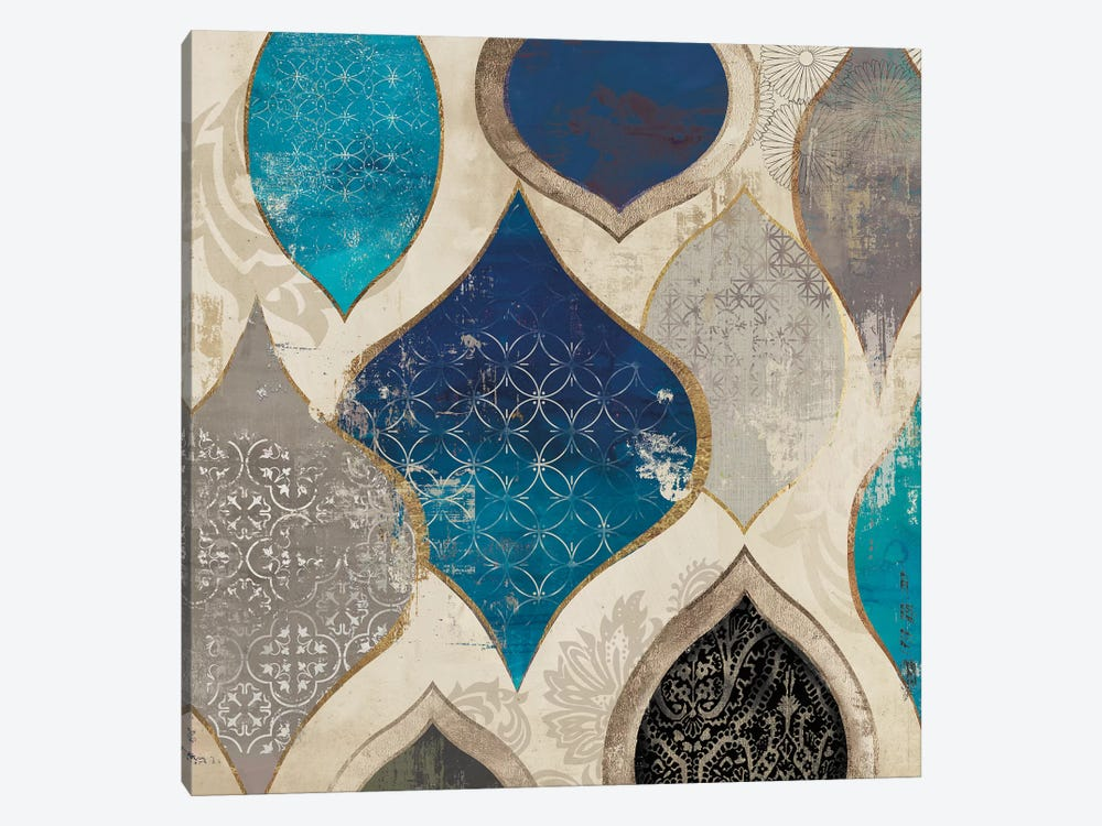 Blue Motif II by Aimee Wilson 1-piece Canvas Art