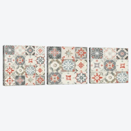 Libson Tiles Triptych Canvas Print Set #AWI3HSET004} by Aimee Wilson Canvas Artwork