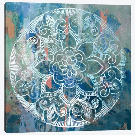 Indigo Medallion  Canvas Print #AWI415} by Aimee Wilson Canvas Wall Art