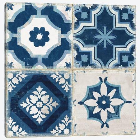 Indigo Mosaic Tile II  Canvas Print #AWI417} by Aimee Wilson Canvas Art