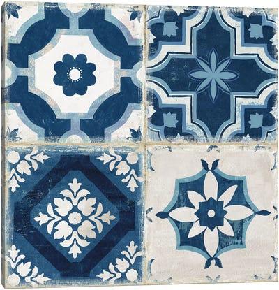 Indigo Mosaic Tile II  Canvas Art Print