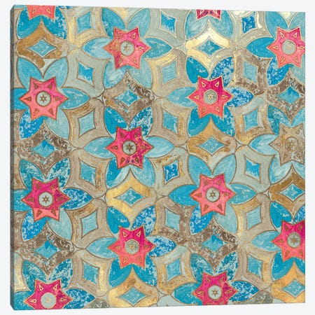 Boho Tile I Canvas Print #AWI42} by Aimee Wilson Canvas Wall Art