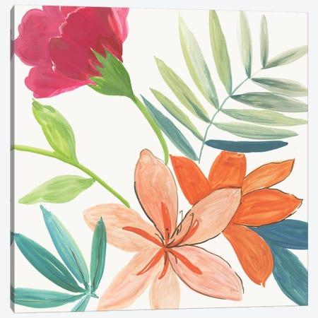 Tropical Florals  Canvas Print #AWI434} by Aimee Wilson Canvas Wall Art