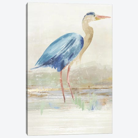 Heron in Lake  Canvas Print #AWI447} by Aimee Wilson Canvas Print
