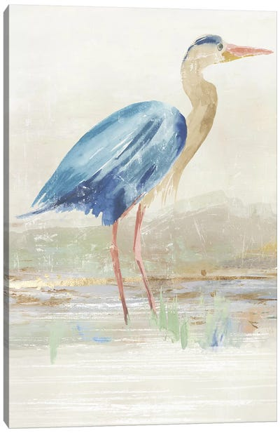 Heron in Lake  Canvas Art Print