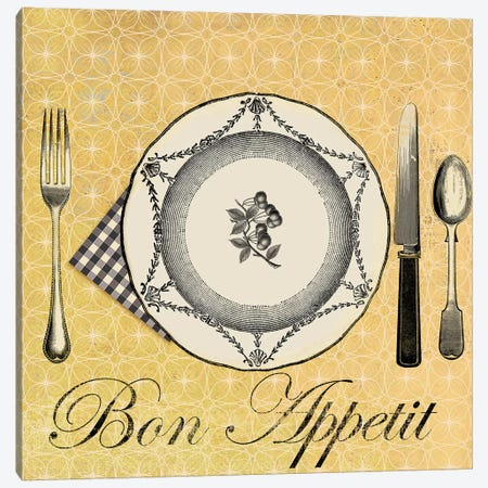 Bon Appetit Canvas Print #AWI44} by Aimee Wilson Art Print