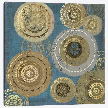 Aboriginal Dot I Canvas Print #AWI4} by Aimee Wilson Art Print