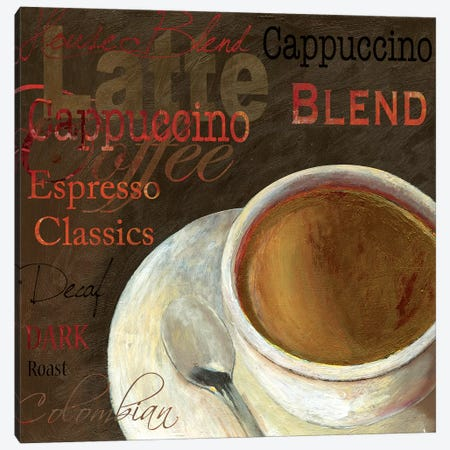 Cappuccino Canvas Print #AWI52} by Aimee Wilson Canvas Art Print