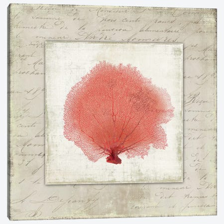 Coral Linen I Canvas Print #AWI67} by Aimee Wilson Canvas Art Print