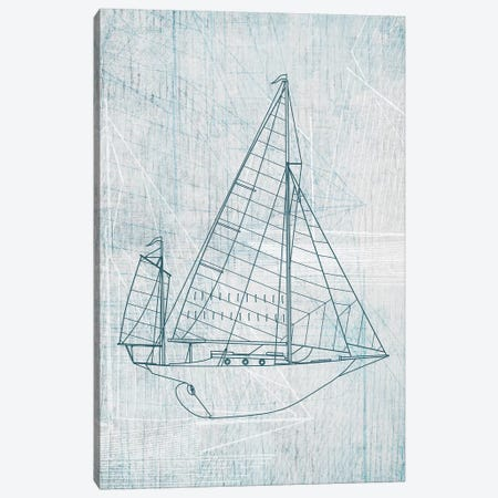 Daniela's Sailboat I Canvas Print #AWI77} by Aimee Wilson Canvas Artwork