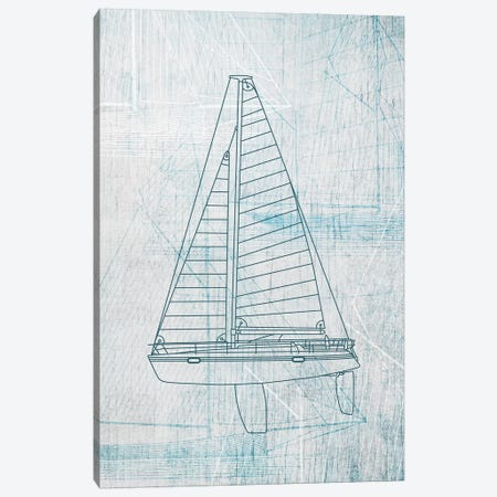 Daniela's Sailboat II Canvas Print #AWI78} by Aimee Wilson Canvas Print
