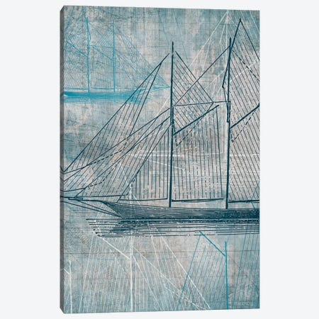 Daniela's Sailboat III Canvas Print #AWI79} by Aimee Wilson Canvas Art Print