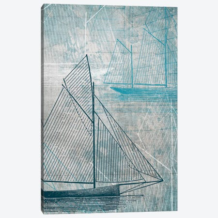 Daniela's Sailboat IV Canvas Print #AWI80} by Aimee Wilson Canvas Art