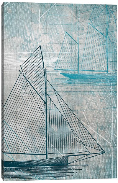 Daniela's Sailboat IV Canvas Art Print