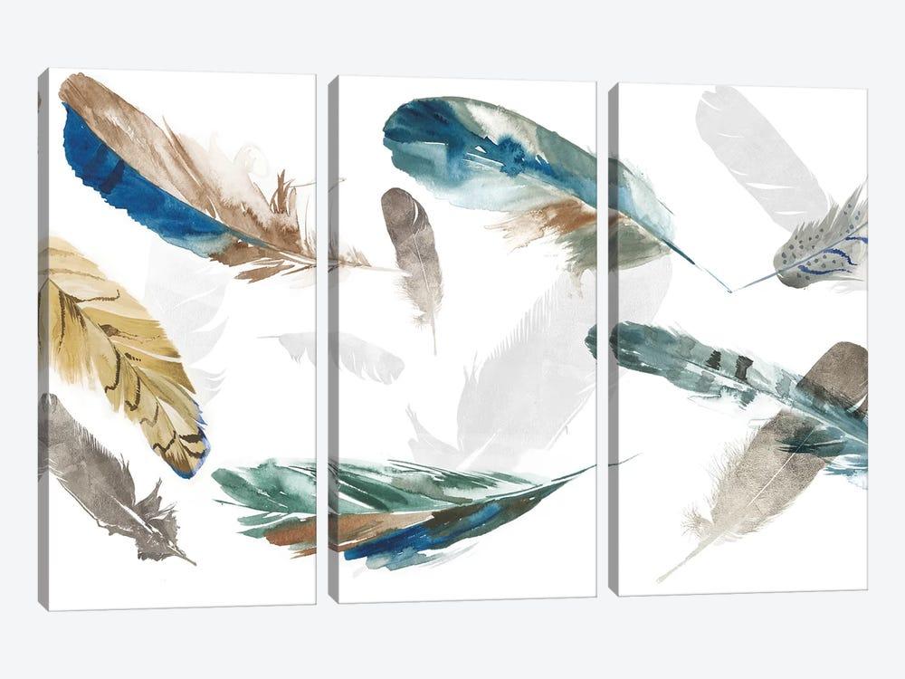 Feathery by Aimee Wilson 3-piece Canvas Wall Art