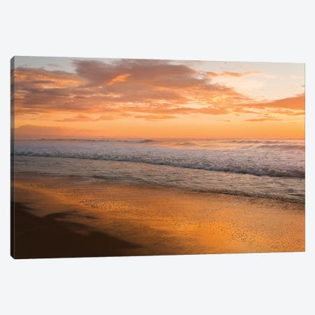 Sunset Waves Canvas Print #AWL117} by Andrew Lever Canvas Print
