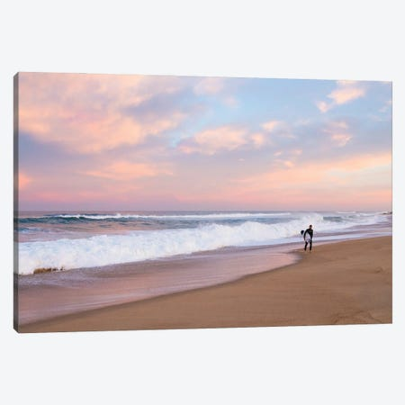 Dusk Surf Canvas Print #AWL131} by Andrew Lever Canvas Artwork