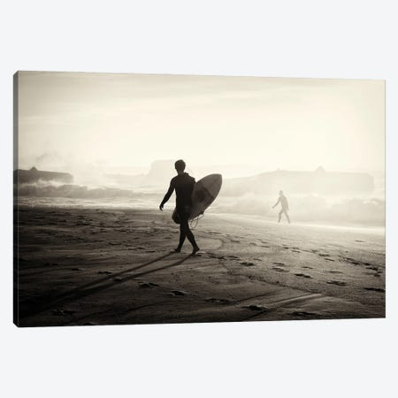 Surfer Silhouette II Canvas Print #AWL136} by Andrew Lever Canvas Art Print