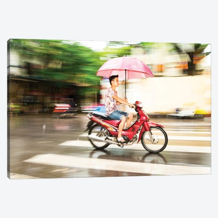 Keeping Dry Canvas Print #AWL145} by Andrew Lever Canvas Wall Art