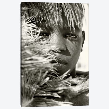 African Boy Canvas Print #AWL15} by Andrew Lever Art Print