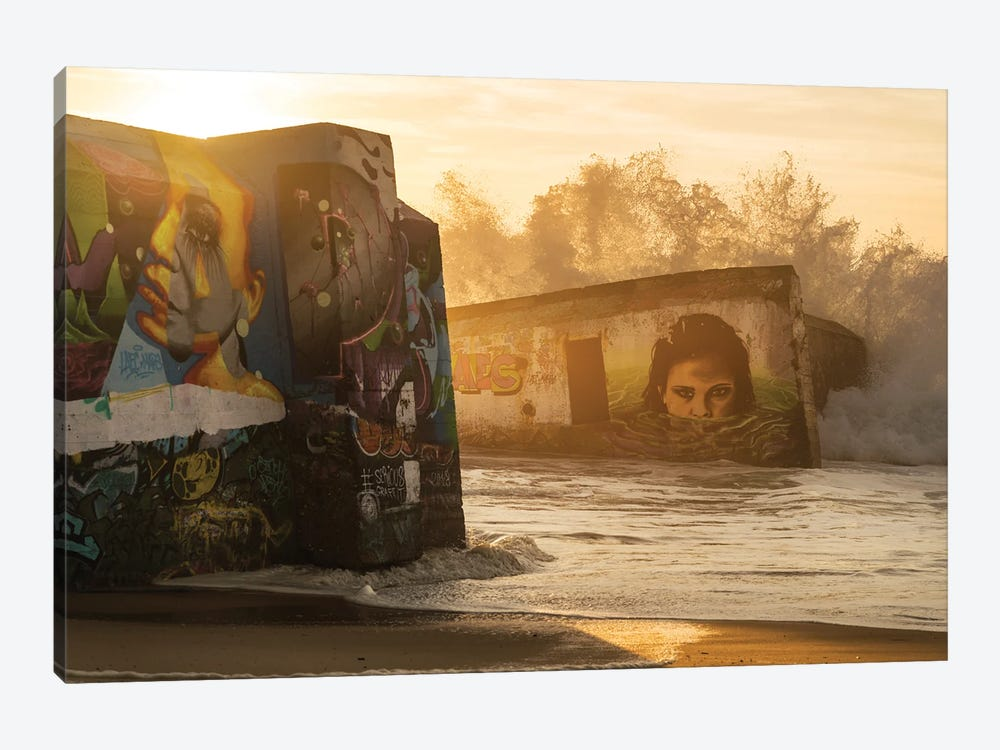 Graffiti Rush by Andrew Lever 1-piece Canvas Art