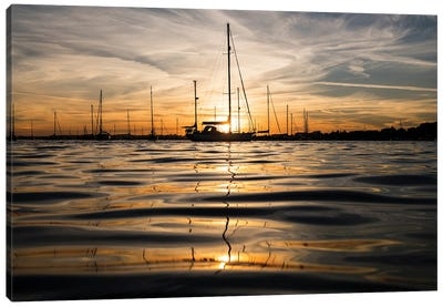 Sunset Yachts Canvas Art Print